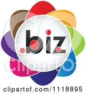 Clipart Of A Colorful Dot Biz Icon Royalty Free Vector Illustration by Andrei Marincas
