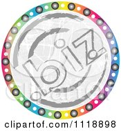 Clipart Of A Round Colorful Dot Biz Icon Royalty Free Vector Illustration by Andrei Marincas