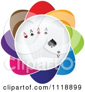 Clipart Of A Colorful Aces Playing Card Icon Royalty Free Vector Illustration