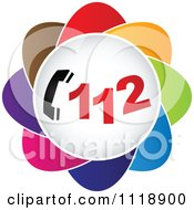 Clipart Of A Colorful 112 Icon Royalty Free Vector Illustration by Andrei Marincas