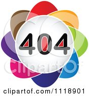 Clipart Of A Colorful 404 Error Icon Royalty Free Vector Illustration