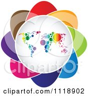 Clipart Of A Colorful Atlas Icon Royalty Free Vector Illustration by Andrei Marincas