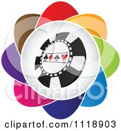 Clipart Of A Colorful Poker Chip Icon Royalty Free Vector Illustration