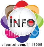 Clipart Of A Colorful Info Icon Royalty Free Vector Illustration by Andrei Marincas