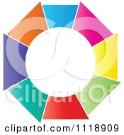 Clipart Of A Round Colorful Icon Royalty Free Vector Illustration by Andrei Marincas