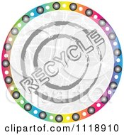 Clipart Of A Round Colorful Recycle Icon Royalty Free Vector Illustration by Andrei Marincas
