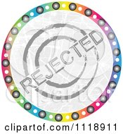 Clipart Of A Round Colorful Rejected Icon Royalty Free Vector Illustration