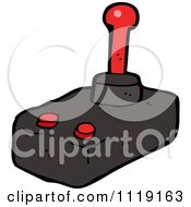 Cartoon Of A Video Game Joy Stick Royalty Free Vector Clipart by lineartestpilot