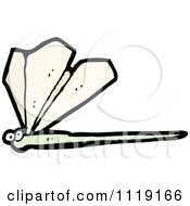 Cartoon Of A Dragonfly 1 Royalty Free Vector Clipart by lineartestpilot