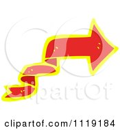 Clipart Of A Red And Yellow Arrow Ribbon 5 Royalty Free Vector Illustration