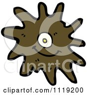 Vector Cartoon Of A Brown Virus Germ Bacteria 2 Royalty Free Clipart Graphic by lineartestpilot