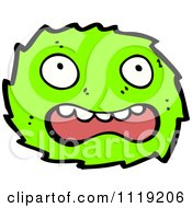 Vector Cartoon Of A Green Virus Germ Bacteria 1 Royalty Free Clipart Graphic by lineartestpilot