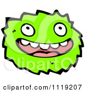 Vector Cartoon Of A Green Virus Germ Bacteria 2 Royalty Free Clipart Graphic by lineartestpilot