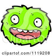 Vector Cartoon Of A Green Virus Germ Bacteria 3 Royalty Free Clipart Graphic by lineartestpilot