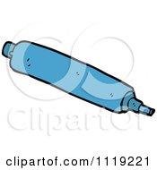 School Cartoon Of A Blue Marker Pen 1 Royalty Free Vector Clipart