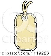 Clipart Of A Tan Retail Sales Tag 1 Royalty Free Vector Illustration