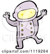 Vector Cartoon Of An Astronaut In A Purple Suit Royalty Free Clipart Graphic by lineartestpilot