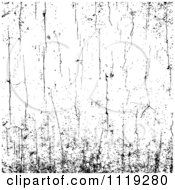 Clipart Of A Black And White Grungy Cracked Background Royalty Free Vector Illustration