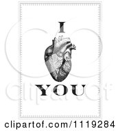 Clipart Of I Love You With A Human Heart Organ Royalty Free Vector Illustration by BestVector