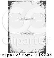 Clipart Of A Grungy Border Over Cross Hatch With Swirls And A Crown Royalty Free Vector Illustration by BestVector