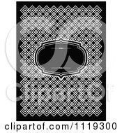 Clipart Of A Black And White Frame Over A Pattern Royalty Free Vector Illustration