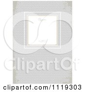 Clipart Of A Frame With Swirls On Grungy Gray Cross Hatch Royalty Free Vector Illustration
