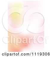 Clipart Of A Blurred Gradient Background With Swirls On The Top And Bottom Royalty Free Vector Illustration