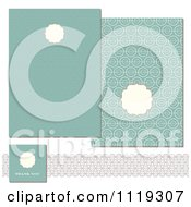 Clipart Of Pastel Turquoise Circle Invitation Designs Royalty Free Vector Illustration