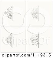 Clipart Of Ornate Swirl Square Backgrounds Royalty Free Vector Illustration by BestVector