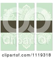 Clipart Of Ornate Victorian Damask Invitation Panels With Copyspace 4 Royalty Free Vector Illustration