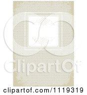 Clipart Of A Frame With Swirls On Grungy Brown Cross Hatch Royalty Free Vector Illustration