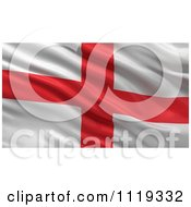 Clipart Of A 3d Waving Flag Of England Rippling And Waving Royalty Free CGI Illustration