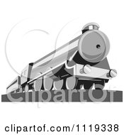 Clipart Of A Retro Steam Engine Train Royalty Free Vector Illustration by patrimonio