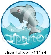 An Ocean Fish Jumping Out Of The Water Clipart Illustration