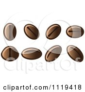 Cartoon Of Coffee Bean Seeds Royalty Free Vector Clipart