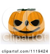 Clipart Of A 3d Halloween Jackolantern Pumpkin With A Big Grin Royalty Free CGI Illustration