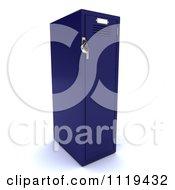 Clipart Of A 3d Blue Gym Locker Royalty Free CGI Illustration