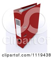 Clipart Of A 3d Red Ring Binder Royalty Free CGI Illustration