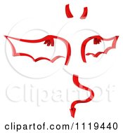 Clipart Of A 3d Red Devil With Wings A Horn And A Forked Tail Royalty Free CGI Illustration by KJ Pargeter