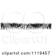 Clipart Of A Silhouetted Crowd Of Dancers 7 Royalty Free Vector Illustration