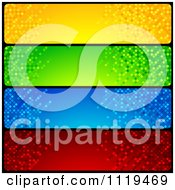 Clipart Of Blue Green Red And Blue Mosaic Website Banners Royalty Free Vector Illustration