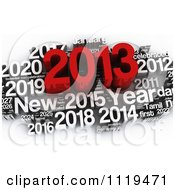 Clipart Of A 3d Red And White 2013 Year Collage 2 Royalty Free CGI Illustration by MacX