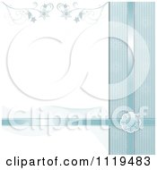Blue Christmas Background With Satin Ribbons A Snowflake Wave And Flourish