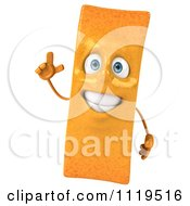 Clipart Of A 3d Frite French Fry With An Idea Royalty Free CGI Illustration by Julos