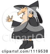 Cartoon Of A Halloween Witch Talking On A Cell Phone Royalty Free Vector Clipart by djart