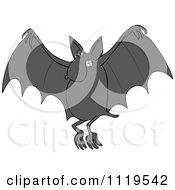 Cartoon Of A Flying Dog Bat Royalty Free Vector Clipart by djart