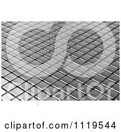 Clipart Of A 3d Metal Tile Background Royalty Free CGI Illustration