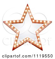 Clipart Of An Illuminated Star Sign Royalty Free Vector Illustration