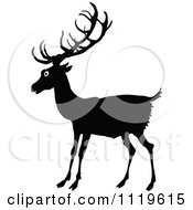 Clipart Of A Retro Vintage Black And White Deer Royalty Free Vector Illustration by Prawny Vintage