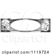 Clipart Of A Retro Vintage Black And White Nativity Border Royalty Free Vector Illustration